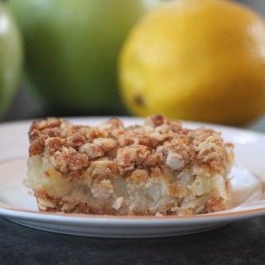 Apple Crumble slice 3