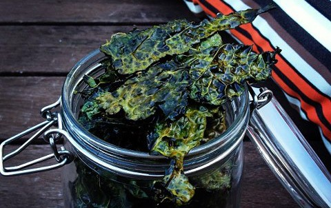 Kale chips jar