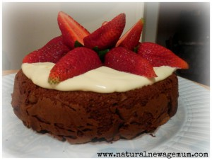 Icing-cream and strawberries Natural New Age mum