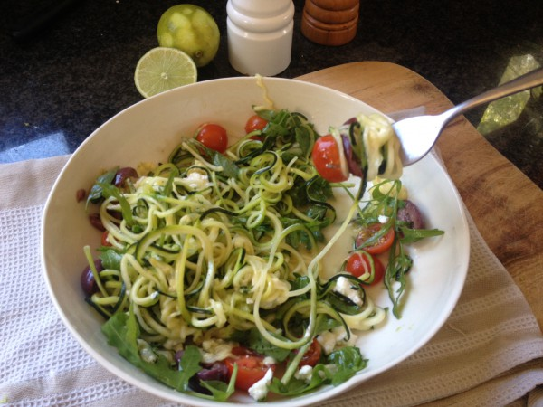 Zucchini Noodle salad 4
