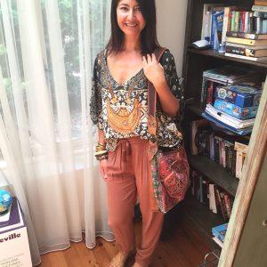Camilla top, country road pants