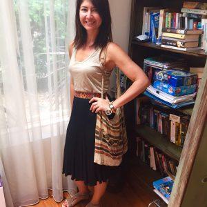 Dotti skirt with gold singlet