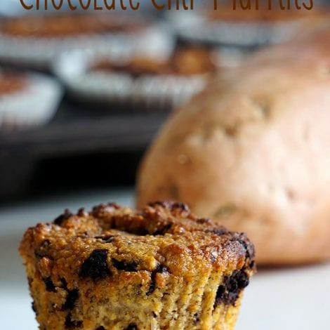 Sweet potato and choc chip muffins