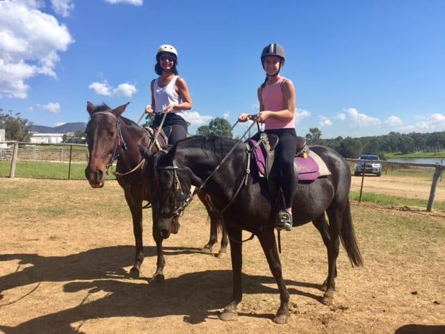 Horseriding Yasi and I