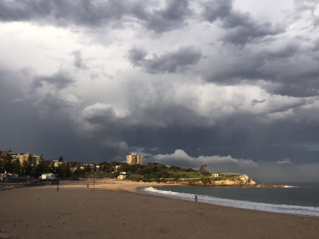 Infertlity dark cloud coogee beach