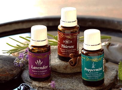 Three oils with lavender flower