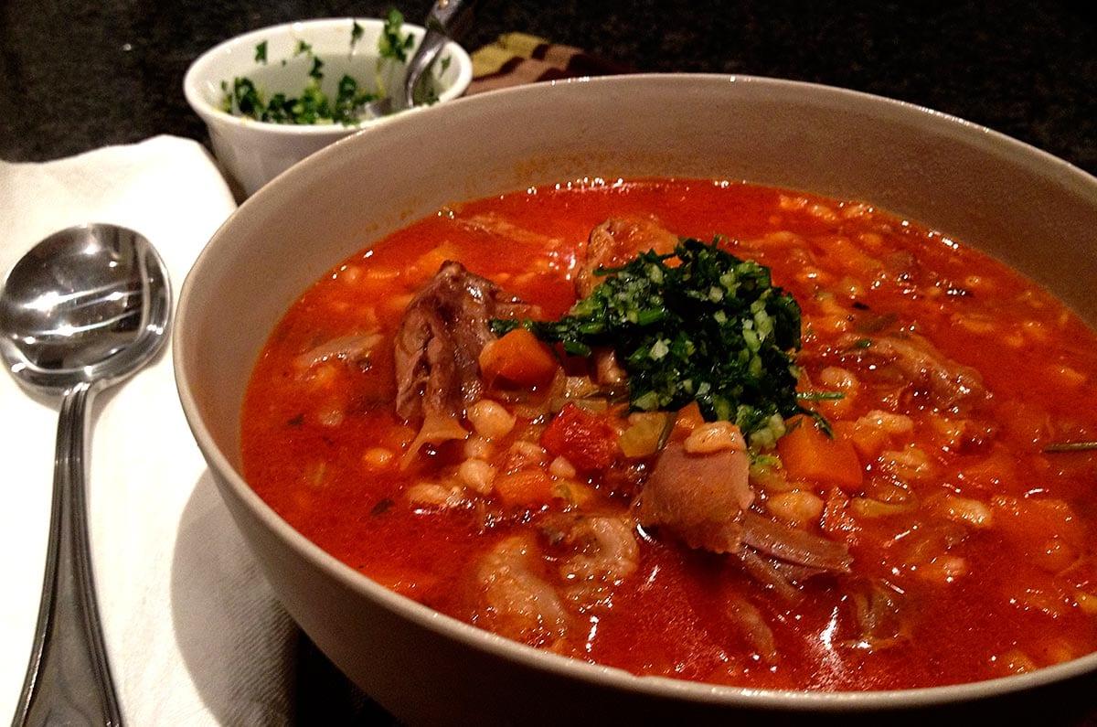 Brenda Janschek - Slow Cooked Lamb Shank Barley Soup With Gremolata