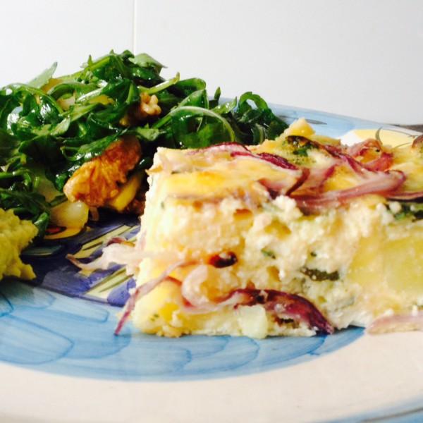 Frittata 2 Potato, feta and spinach