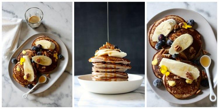 Buckwheat and banana pancakes mamacino